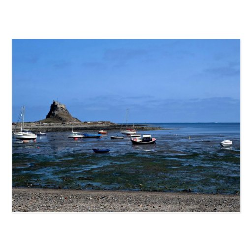 Harbor and Lindisfarne Castle, Holy Island Post Card