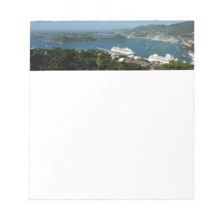 Harbor at St. Thomas US Virgin Islands Notepad
