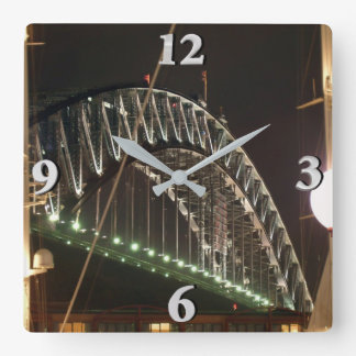 Harbor Bridge Square Wall Clock