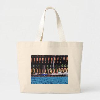Harbor Docks Jumbo Tote Bag