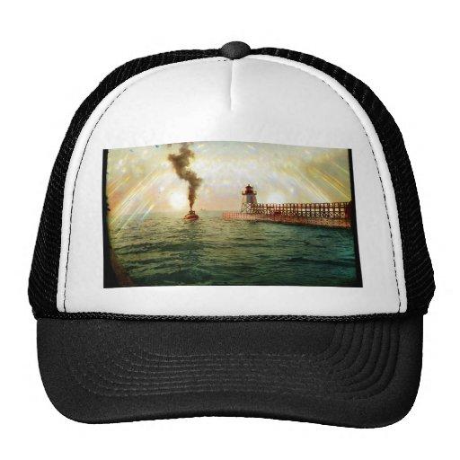 Harbor entrance, Charlevoix, Michigan circa 1900 Trucker Hat