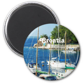 Harbor in Croatia Magnet