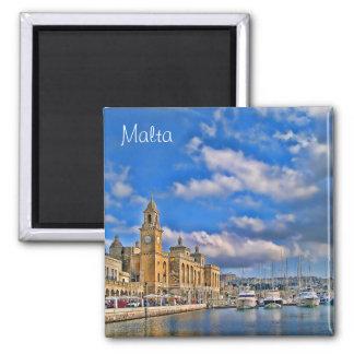 Harbor in Malta Magnet