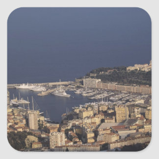Harbor, Monte Carlo, French Riviera, Cote d' 2 Square Sticker