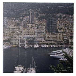 Harbor, Monte Carlo, French Riviera, Cote d' 4 Tile