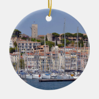 Harbor of Cannes in France Christmas Ornament