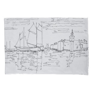 Harbor of Concarneau | Southern Brittany, France Pillowcase