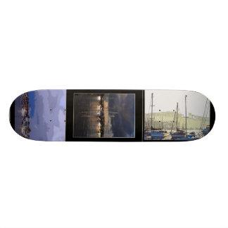 Harbor Sailboats Skateboard