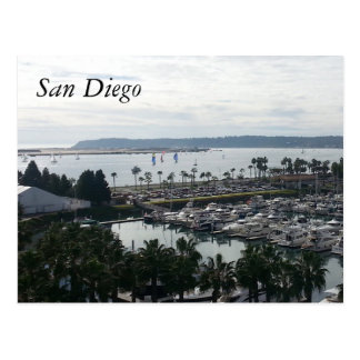 Harbor San Diego CA Postcard