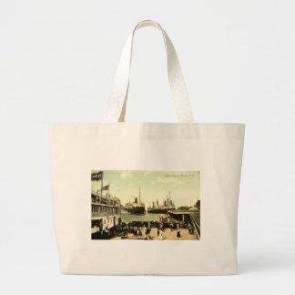 Harbor Scene Detroit Michigan Tote Bags