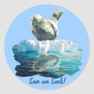 HARBOR-SEAL PUP Wildlife-supporter Sticker