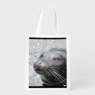 Harbor Seal Reusable Grocery Bag