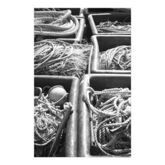 Harbor Side Boxes of Ropes. Stationery Paper