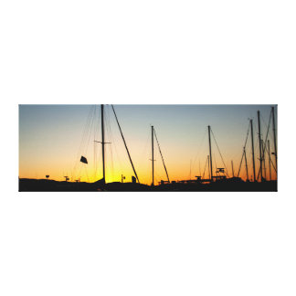 Harbor Sunset Stretched Canvas Print
