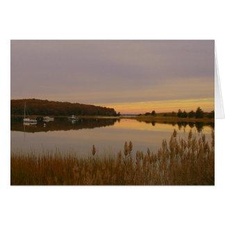 harbor sunset card
