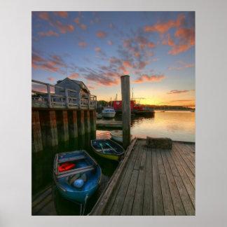 Harbor Sunset Poster