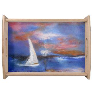 Harbor Sunset Sail Serving Tray