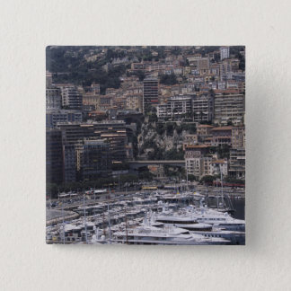 Harbor, vertical view, Monte Carlo, French 15 Cm Square Badge