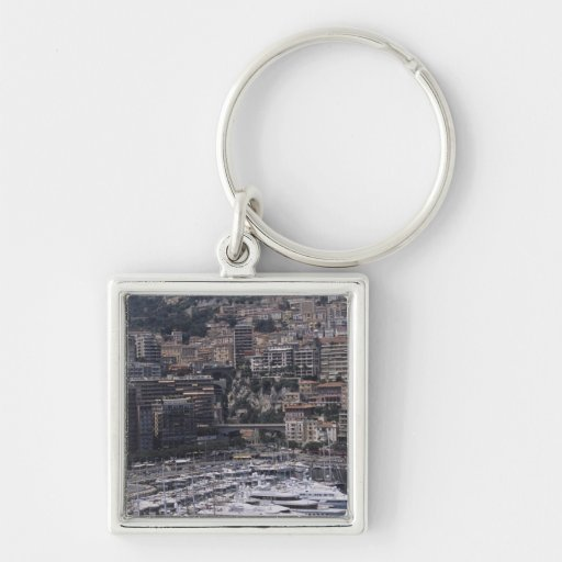 Harbor, vertical view, Monte Carlo, French Key Chain