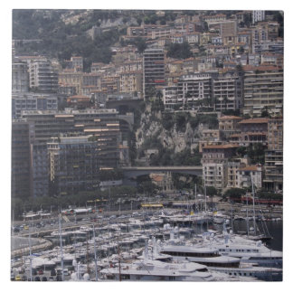 Harbor, vertical view, Monte Carlo, French Tile