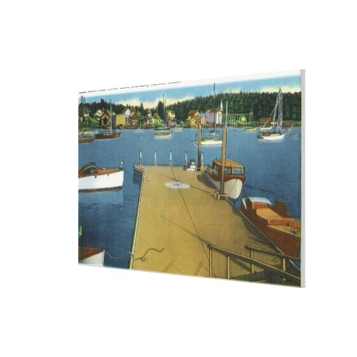 Harbor View from East Side of Yacht Club Stretched Canvas Prints