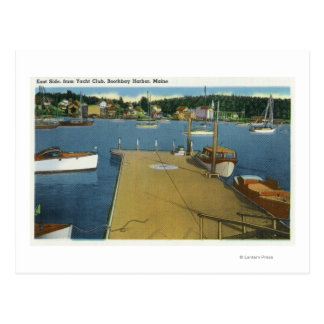 Harbor View from East Side of Yacht Club Postcard
