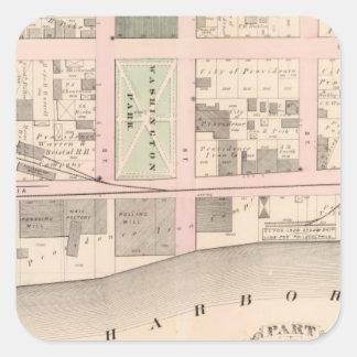 Harbor Washington Park Atlas Map Square Sticker