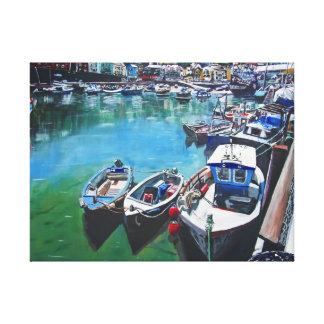 Harbour 6 wrapped canvas print