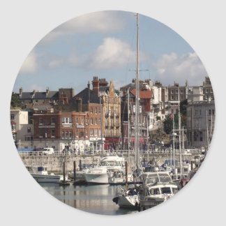 Harbour And Boats Photo Stickers