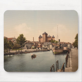 Harbour and Chateau Fort, Annecy, France Mouse Pad