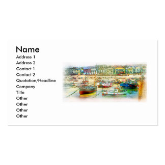HARBOUR AS A PAINTING PACK OF STANDARD BUSINESS CARDS