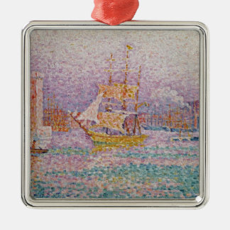Harbour at Marseilles, c.1906 Silver-Colored Square Decoration