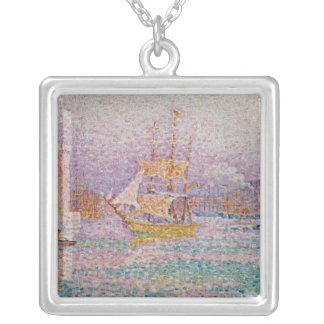 Harbour at Marseilles, c.1906 Silver Plated Necklace
