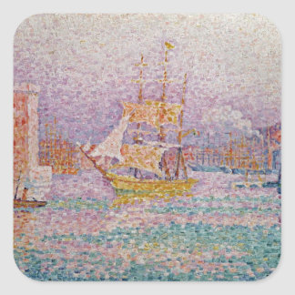 Harbour at Marseilles, c.1906 Square Sticker