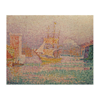 Harbour at Marseilles, c.1906 Wood Wall Art