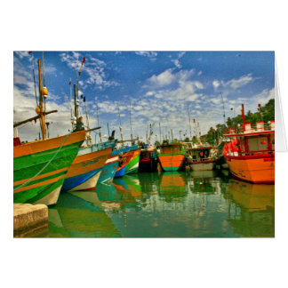 Harbour at Mirissa Card