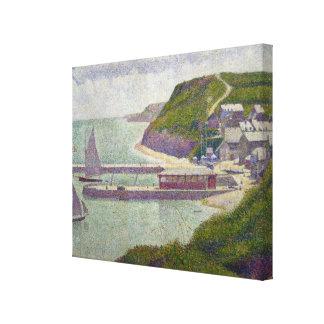 Harbour at Port-en-Bessin at High Tide, 1888 Canvas Print