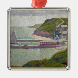 Harbour at Port-en-Bessin at High Tide, 1888 Christmas Ornament