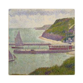 Harbour at Port-en-Bessin at High Tide, 1888 Wood Coaster