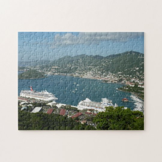 Harbour at St. Thomas US Virgin Islands Jigsaw