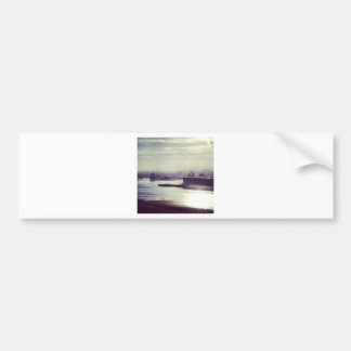 Harbour at twilight bumper sticker