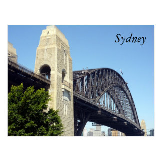 harbour bridge pylon postcard