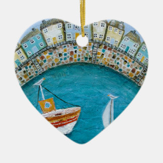 Harbour Houses Ceramic Heart Decoration
