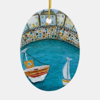 Harbour Houses Ceramic Oval Decoration
