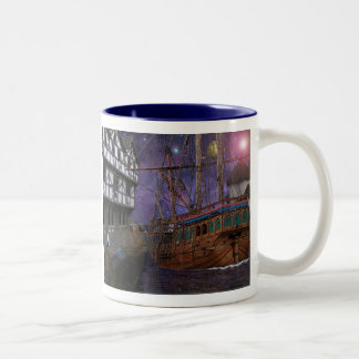 Harbour Nights.. Two-Tone Coffee Mug