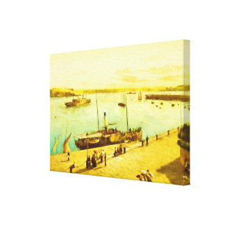 Harbour Parasols Canvas Print