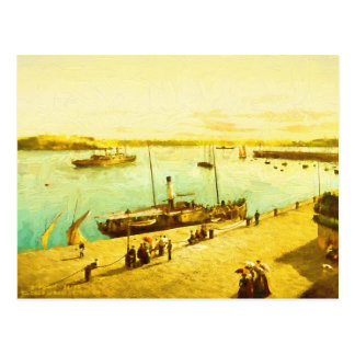 Harbour Parasols Postcard