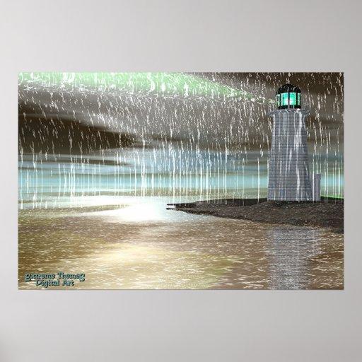Harbour Rain Poster