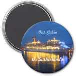 Harbour Reflections Personalised 7.5 Cm Round Magnet