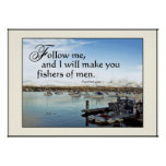 Harbour Sailboats Fishers of Men Print